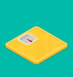 bathroom scale flat design icon vector image