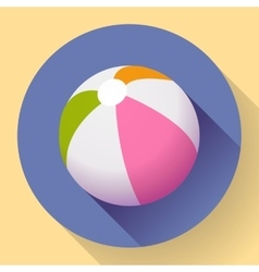 Beach Ball icon Modern Flat style with a long vector image