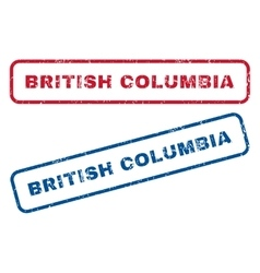 British Columbia Rubber Stamps vector