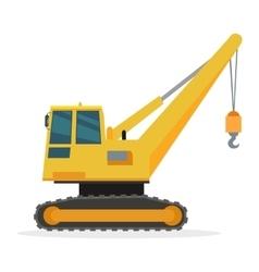 Building Crane on White Caterpillar vector