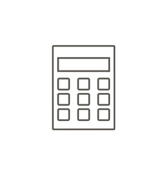 calculator icon simple element from map and vector image