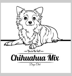 Chihuahua mix dog - for t vector