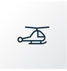 Chopper outline symbol premium quality isolated vector