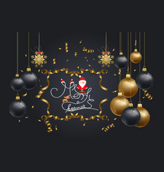 christmas 2018 background with christmas confetti vector image