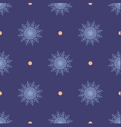 Christmas seamless symmetrical pattern of vector