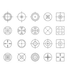 collection flat simple targets isolated vector image