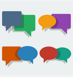 color speech bubbles in flat style vector image