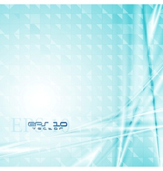 Colourful blue tech design vector image