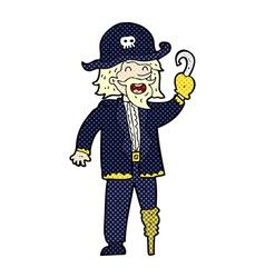 comic cartoon pirate captain vector image