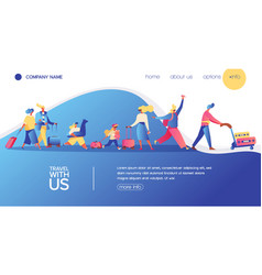 concept banner with travelling people vector image