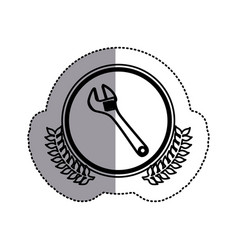 Contour symbol monkey wrench icon vector