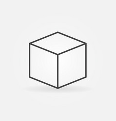 cube line icon vector image