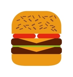 Delicious burger isolated icon design vector