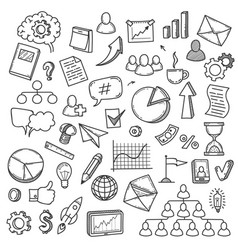 doodle startup sketch smart idea concept with vector image