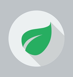 Eco Flat Icon Leaf vector image
