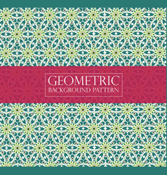 Editable abstract green geometric pattern vector