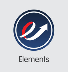 Elements cryptocurrency - coin vector