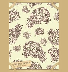 Floral seamless pattern in vintage paper frame vector
