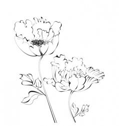 Flower graphics vector