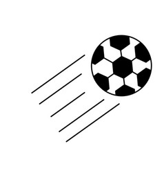 flying ball icon vector image