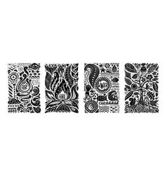 four elements concept banners design vector image