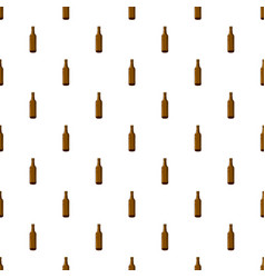 Full brown beer bottle pattern vector