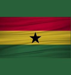 ghana flag flag of ghana blowig in the wind eps vector image