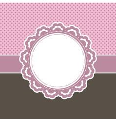 Girly frame vector