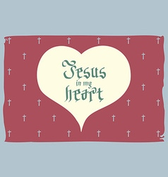 gothic Bible lettering Christian art Jesus in my vector image