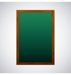 Greenboard school supply icon vector