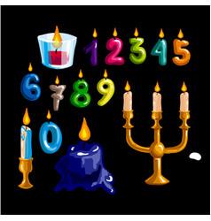 happy birthday logo and party symbols vector image