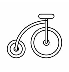 Highwheel bike icon outline style vector image