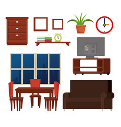 house place set icons vector image