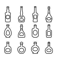 icons bottles vector image