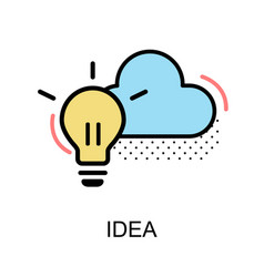 idea graphic icon vector image