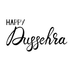 Inscription happy dussehra vector