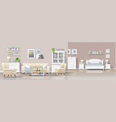 Interior background living room and bedroom vector