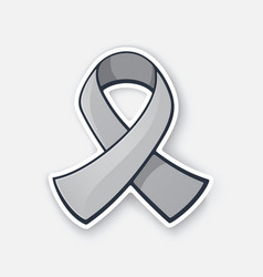 international symbol brain tumor awareness vector image