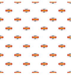 labor day happy pattern seamless vector image