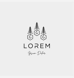 landscape logo design for landscaping icon vector image