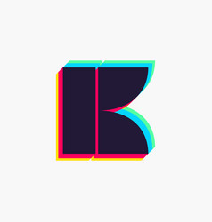 Letter k logo with stereo effect vector