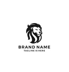 lion head logo template icon vector image