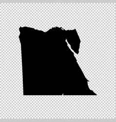 Map egypt isolated black on vector