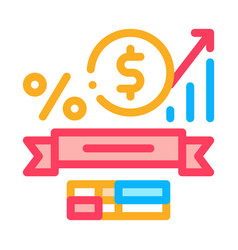 math subjects graduation icon outline vector image