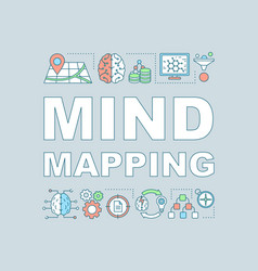 Mind mapping word concepts banner vector