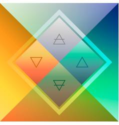 Minimalistic modern scheme four elements in vector