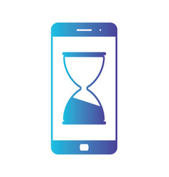 mobile phone hourglass line icon web and mobile vector image