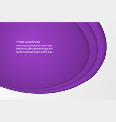 modern simple oval purple and white background vector image