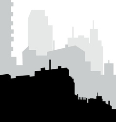 Morning City Skyline vector image