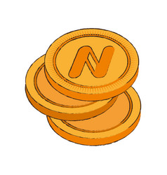 namecoin cryptocurrency stack icon vector image